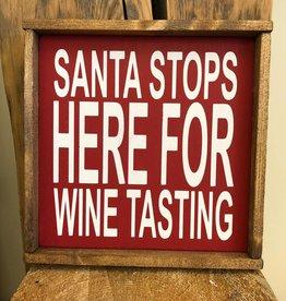 Santa Stops Here for Wine