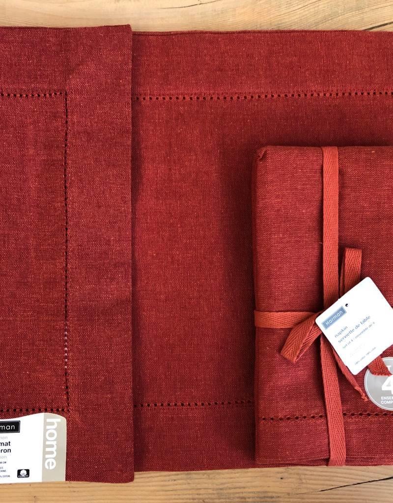 Crimson Red Vienna Linen