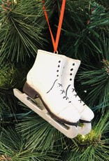White Figure Skates Ornament- Large