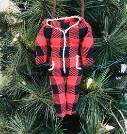 Buffalo Check Onesie Ornament