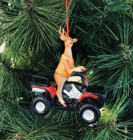 Deer Hunter on ATV Ornament