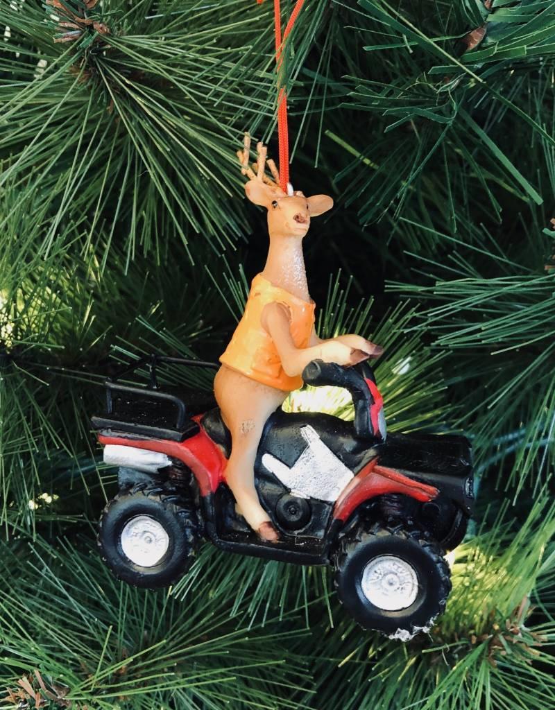 Deer Hunter on ATV Ornament