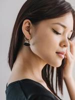 Duster Tassel Earrings Black