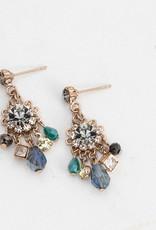 Bloom Chandelier Earrings Black Diamond