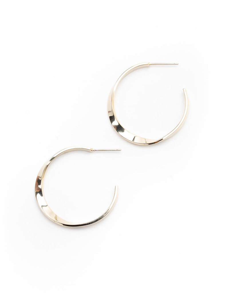 Taylor Twist Earring Gold