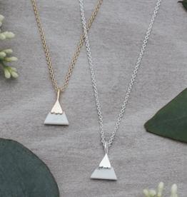 Peak Necklace Gold/Howlite