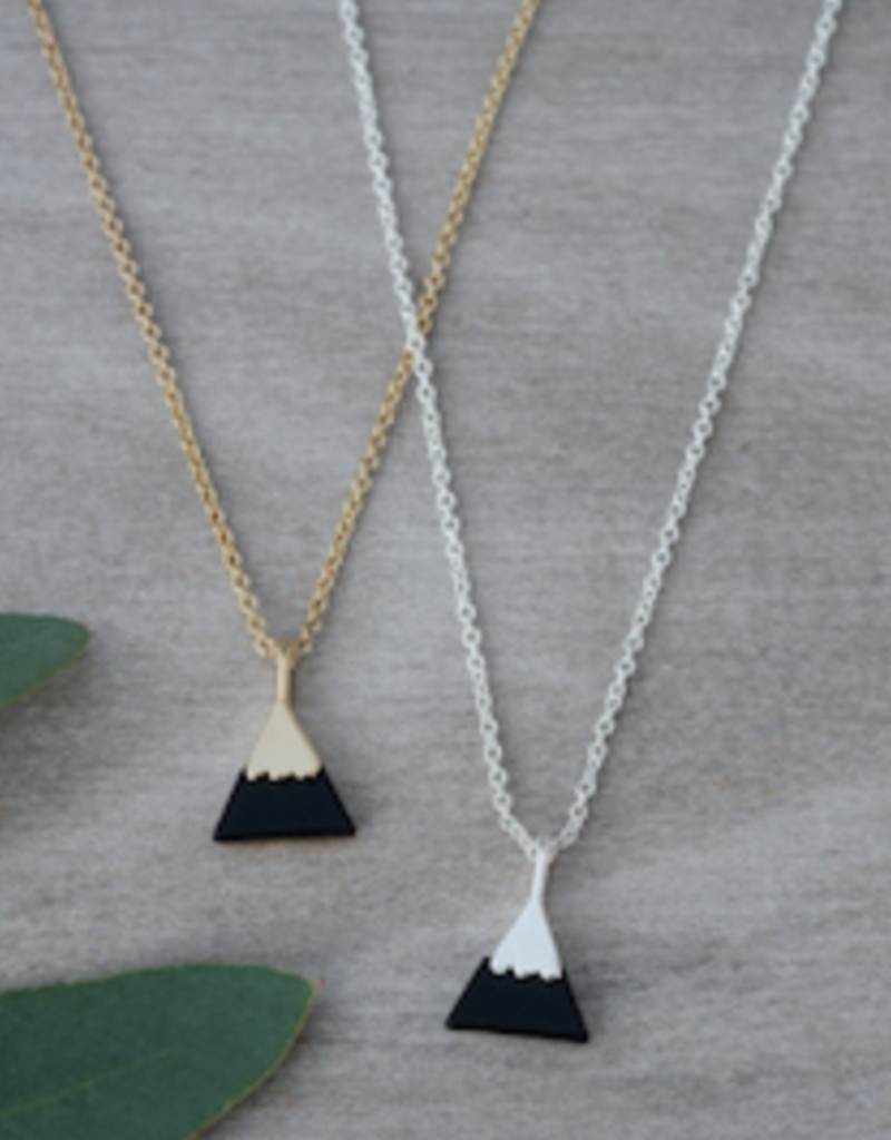 Peak Necklace Silver/Onyx