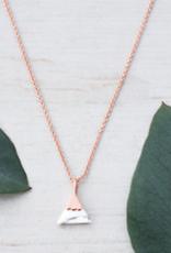 Peak necklace Rose Gold/Howlite