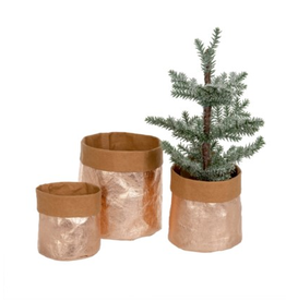 Rose Gold kraft paper baskets/S3