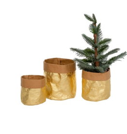 Gold Kraft Paper baskets/S3