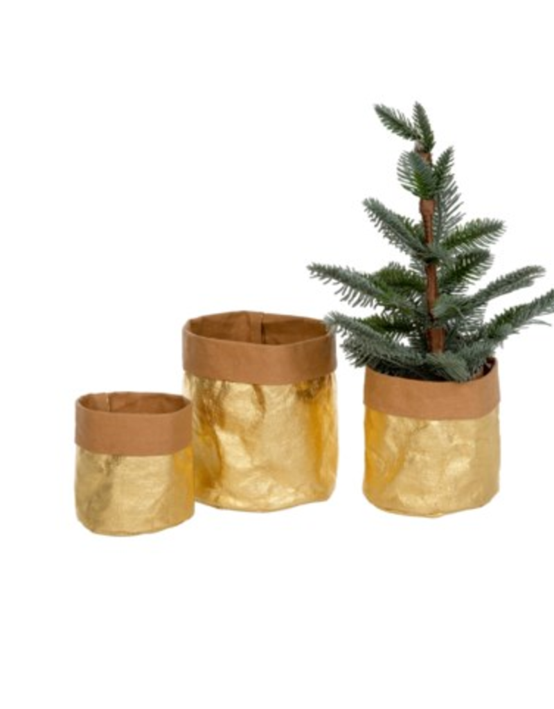 Gold Kraft Paper baskets/S3