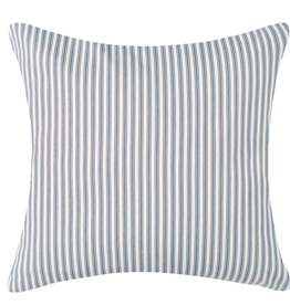 Vintage ticking pillow 18x18 Navy