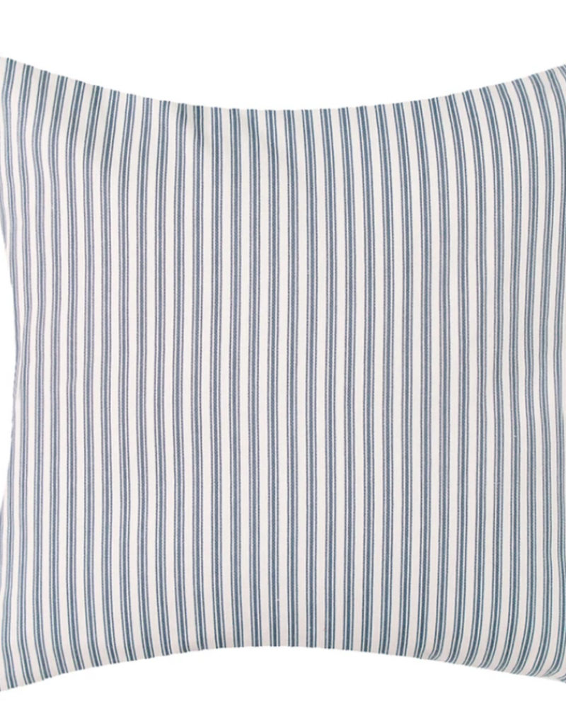 Vintage ticking pillow 22x22 Navy