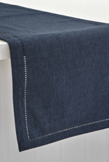 Vienna Linen Look Runner Navy 14x72