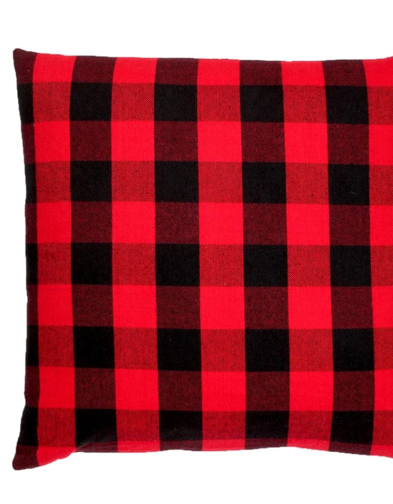 Buffalo check pillow 22x22 RED AND BLACK