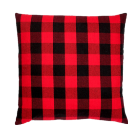 Buffalo check pillow 18x18  RED AND BLACK