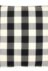 Blk&Cream check pillow 22x22