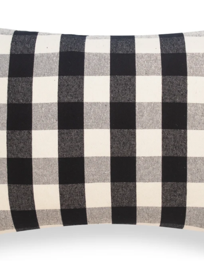 Black and White Check Pillow 14x20