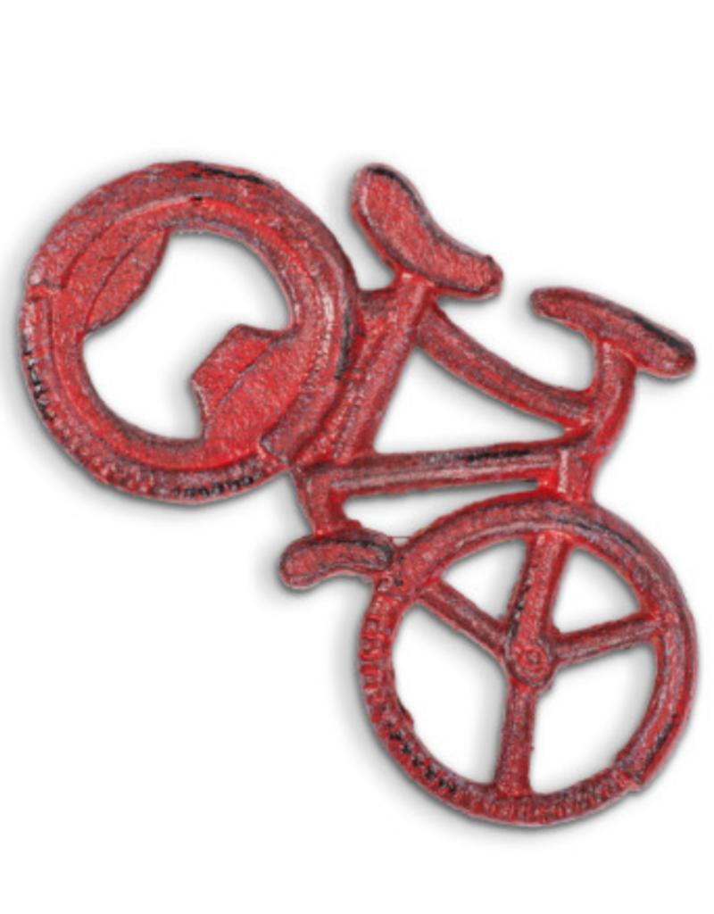 Red bike bottle opener