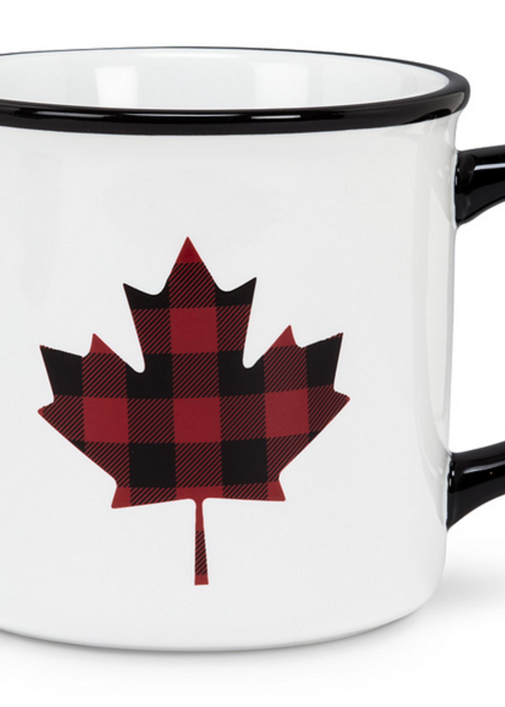 Abbott Plaid Maple Leaf Mug