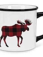 Abbott Plaid Moose Mug