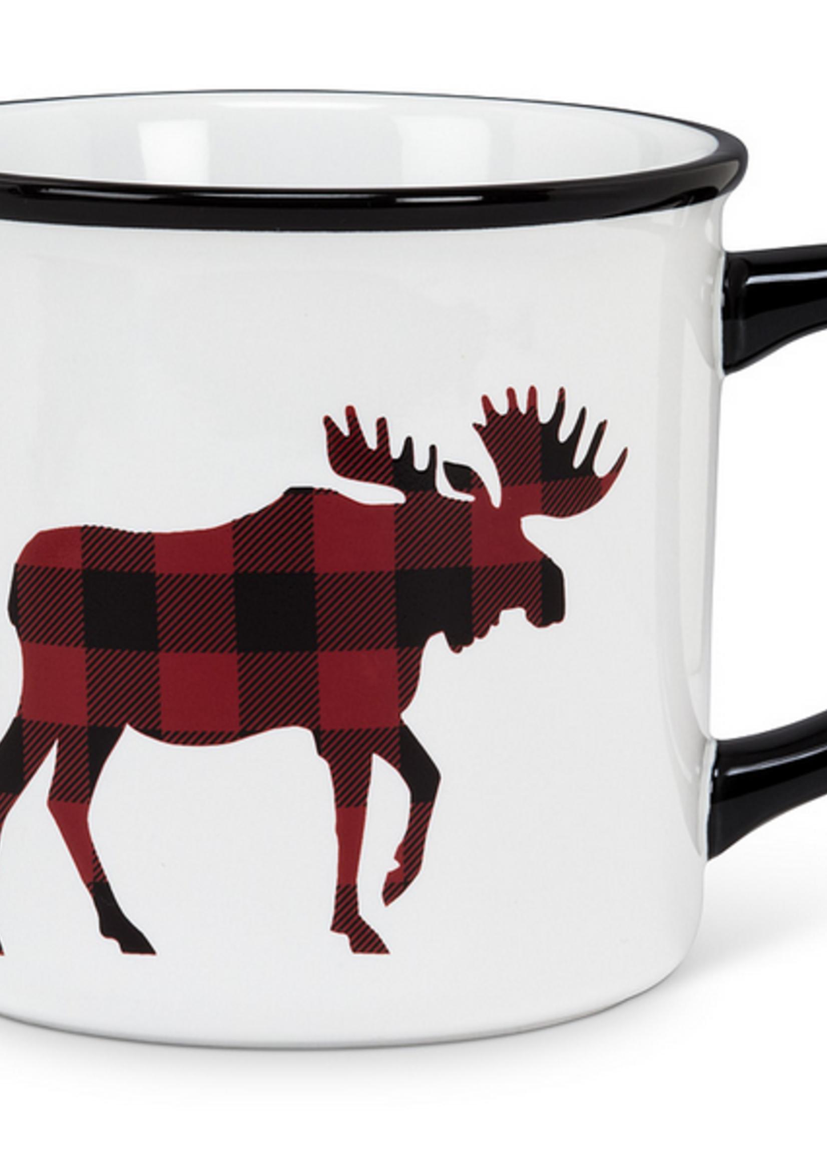 Plaid Moose Mug