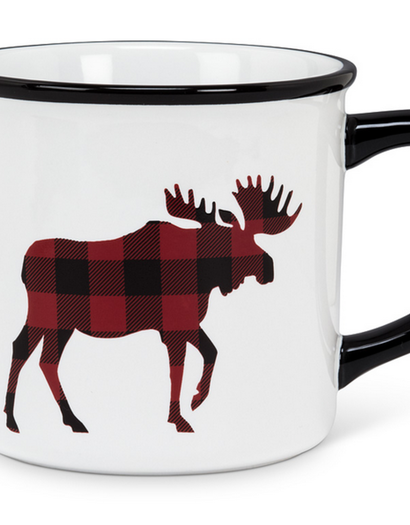 Plaid Moose Mug