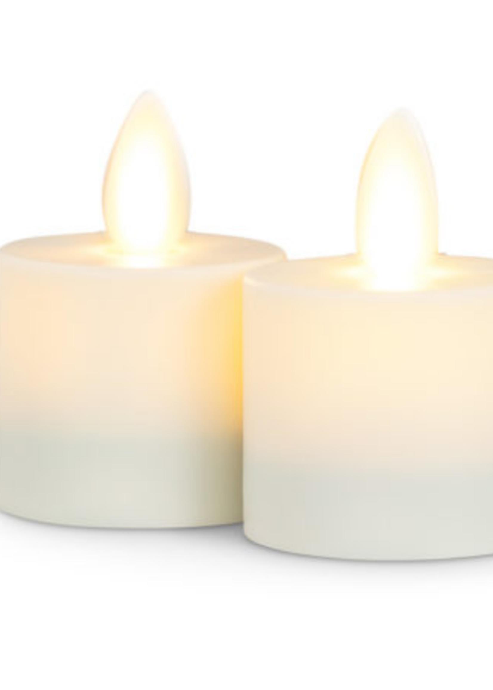 Ivory Flameless Votive set of 2