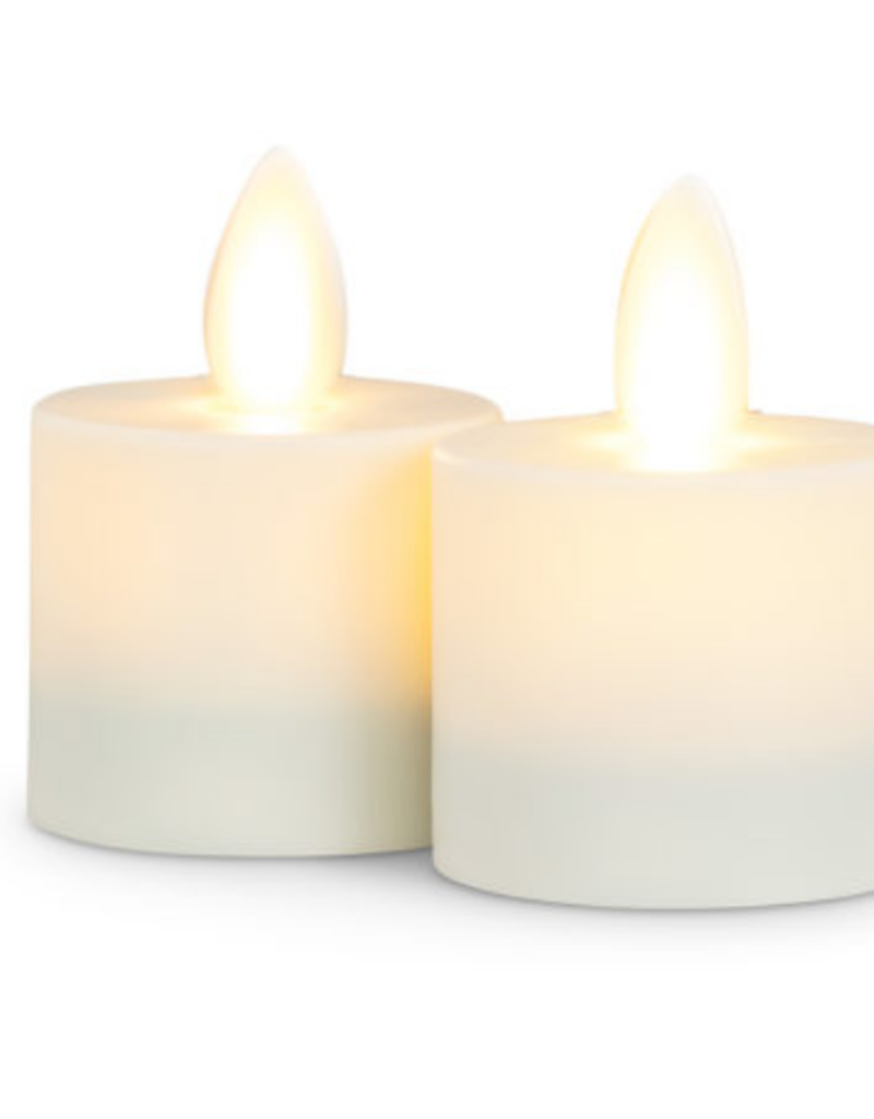 Ivory Flameless Votive set of 2
