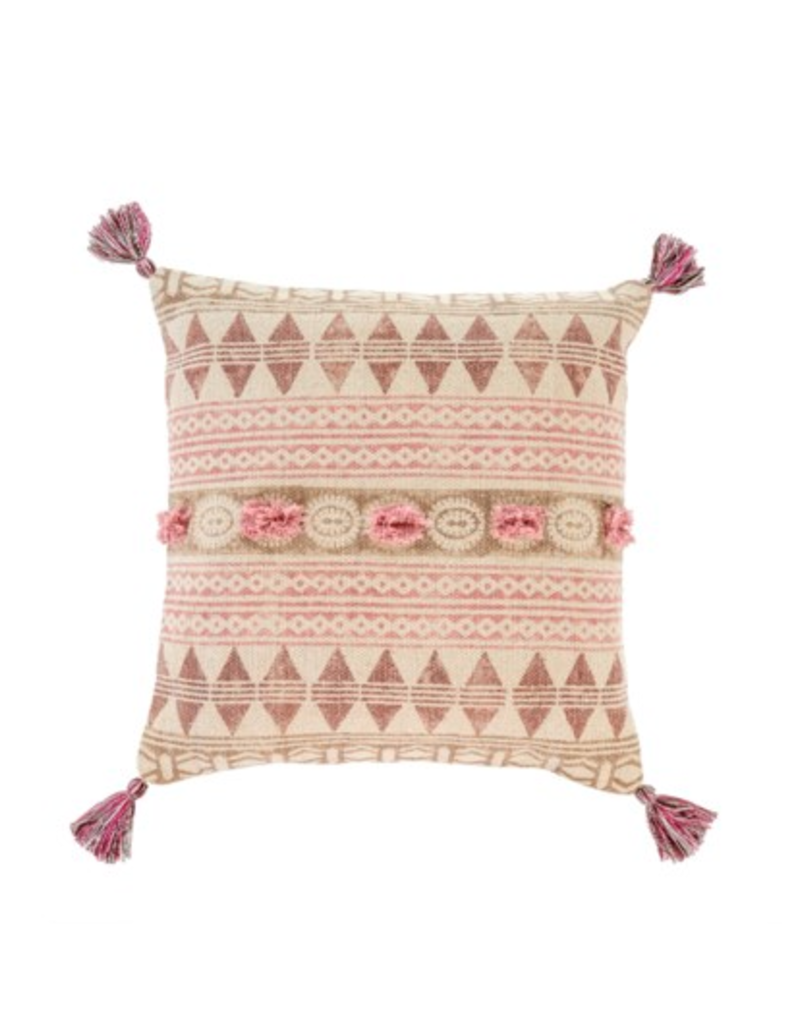 20x20 Rosa Block Print Pillow square