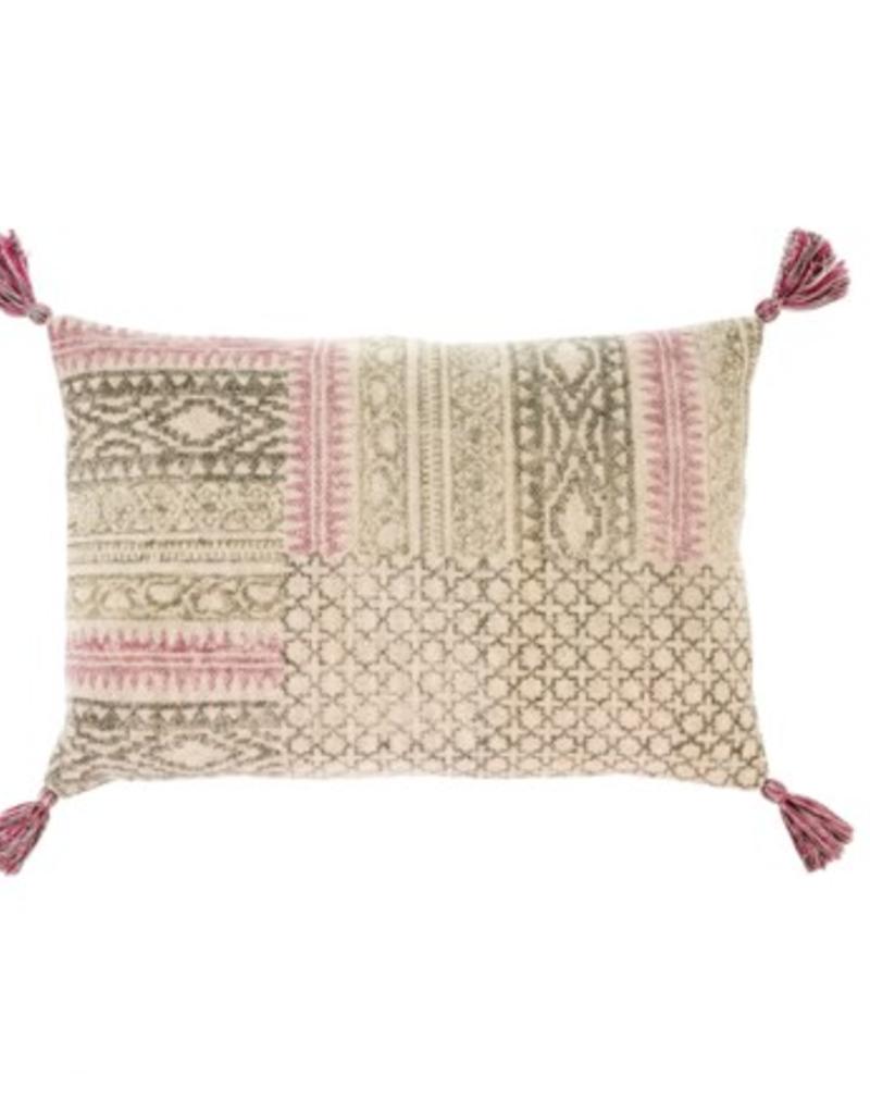 16x24 Rosa Block Print Pillow