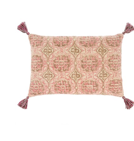 16x24 Rosa Block Print Pillow