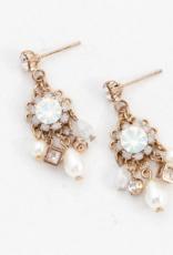 Bloom Chandelier Earrings - White Opal