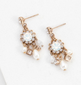 Bloom Chandelier Earrings - White Opal