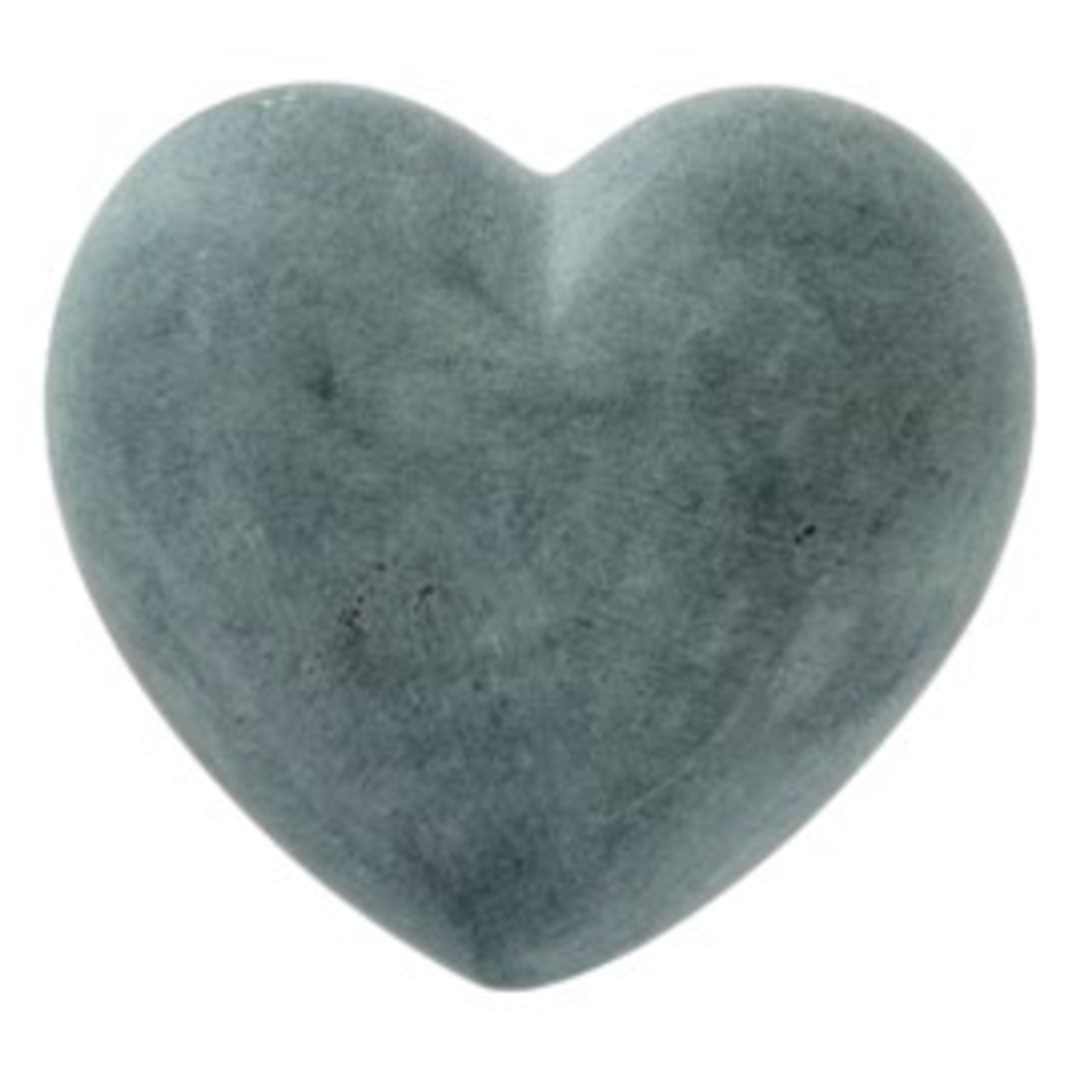 XL soapstone Heart Grey