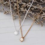 Starburst Necklace Silver