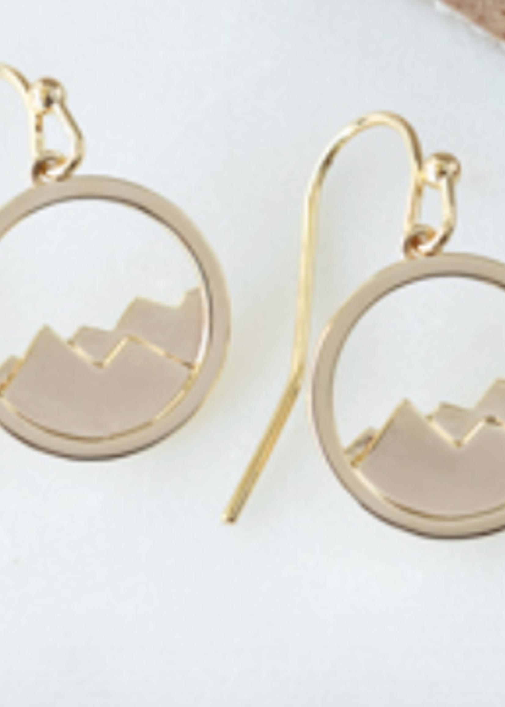 Diamond Head Earring Gold