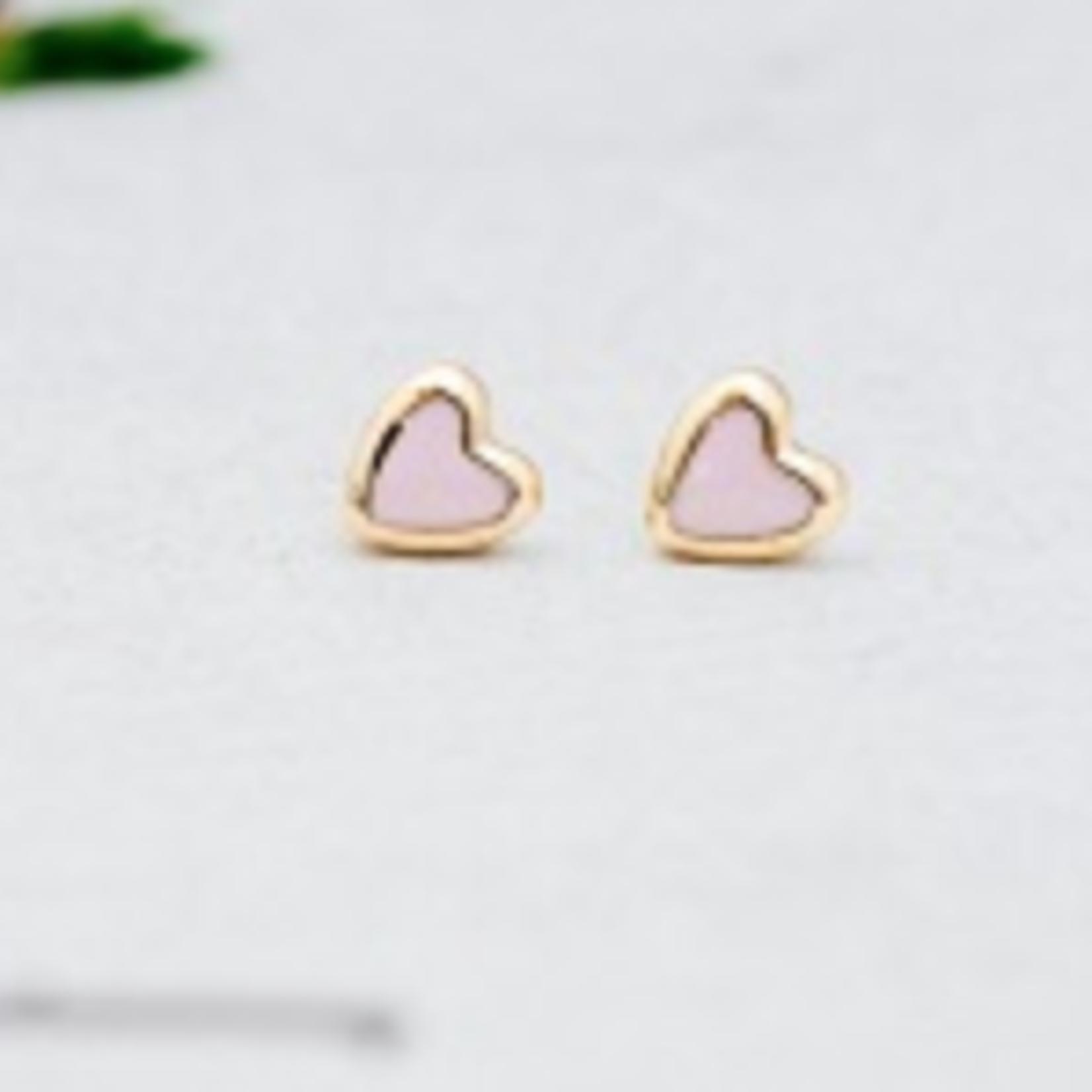 Cherish Stud Earrings- Gold Pink