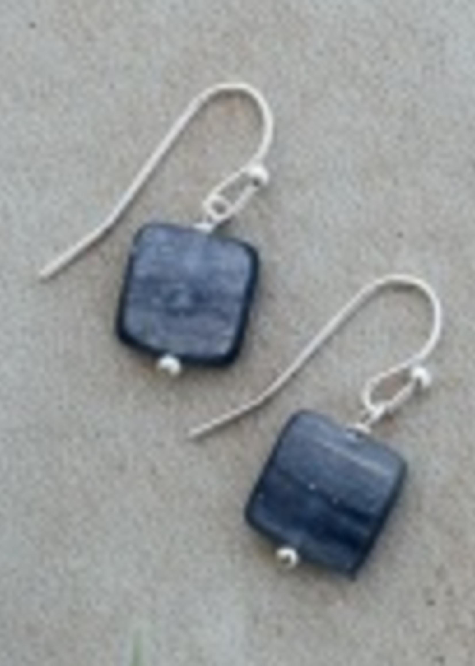 Quattro Earring Silver/ Kyanite