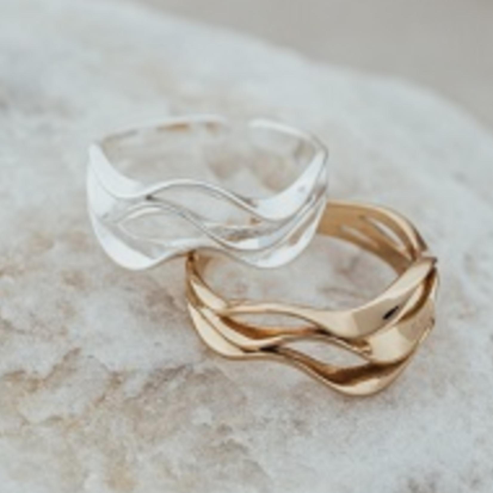 Ripple Ring Gold