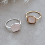 A La Mode ring rose quartz GOLD