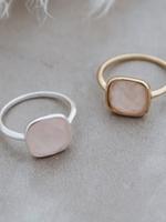 A La Mode ring rose quartz GOLD