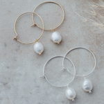 Bellamy Hoops-Silver-White Pearl