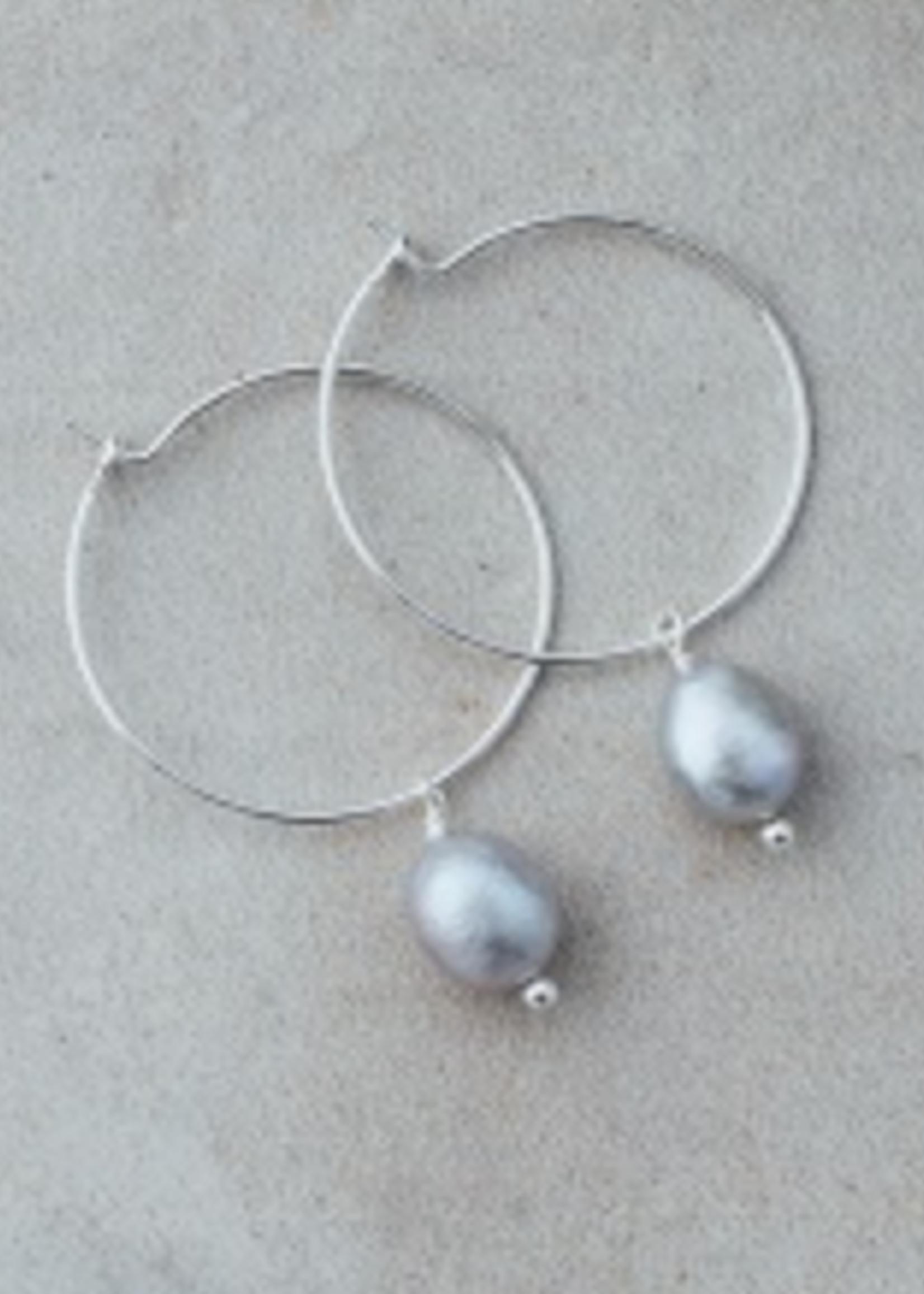 Bellamy Hoops-Silver-Grey Pearl
