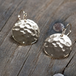 Hammered Disc Earring-Gold