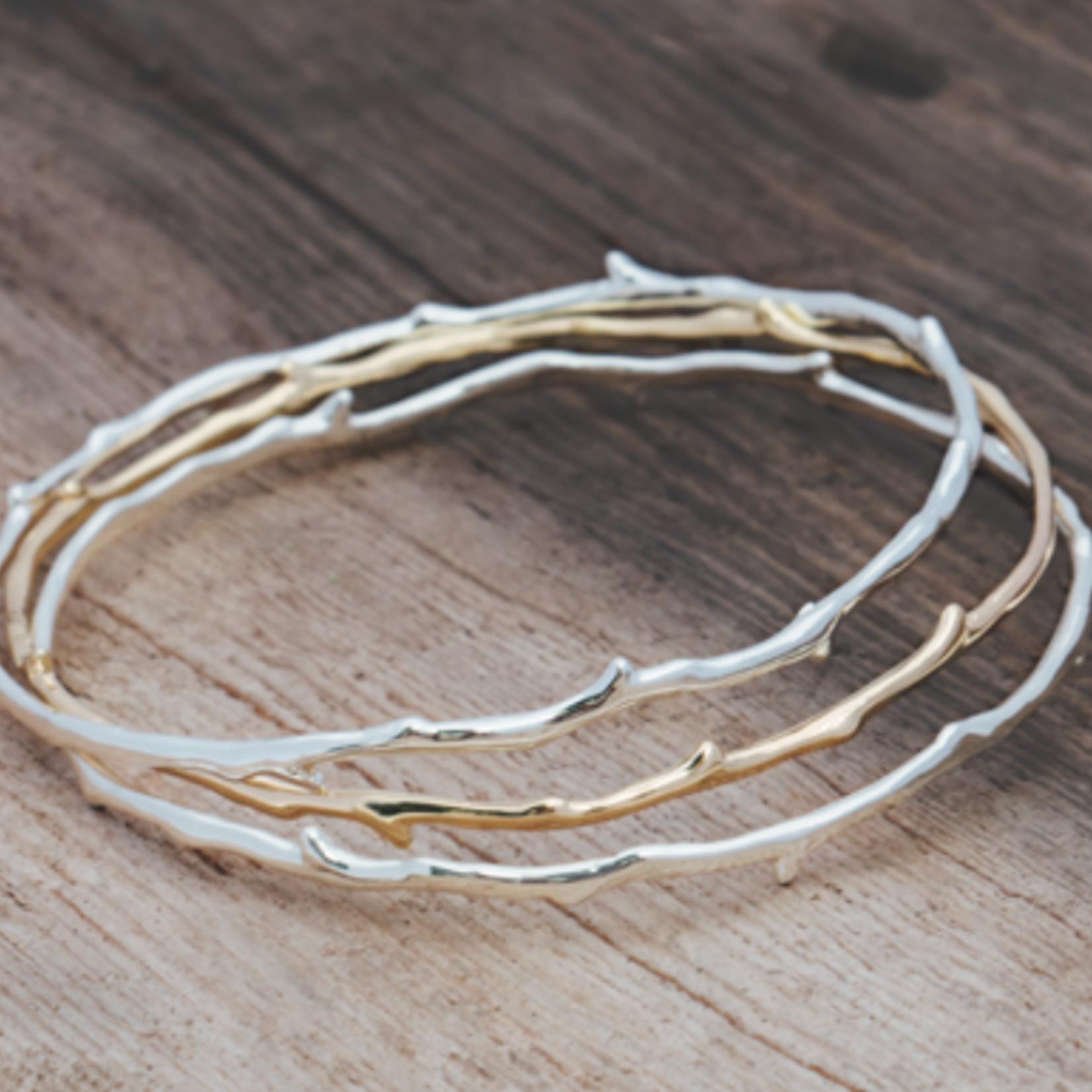 Coral Branch Bracelet/ Gold