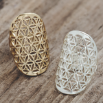 Flower of Life Ring/ Gold