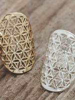Flower of Life Ring/ Gold