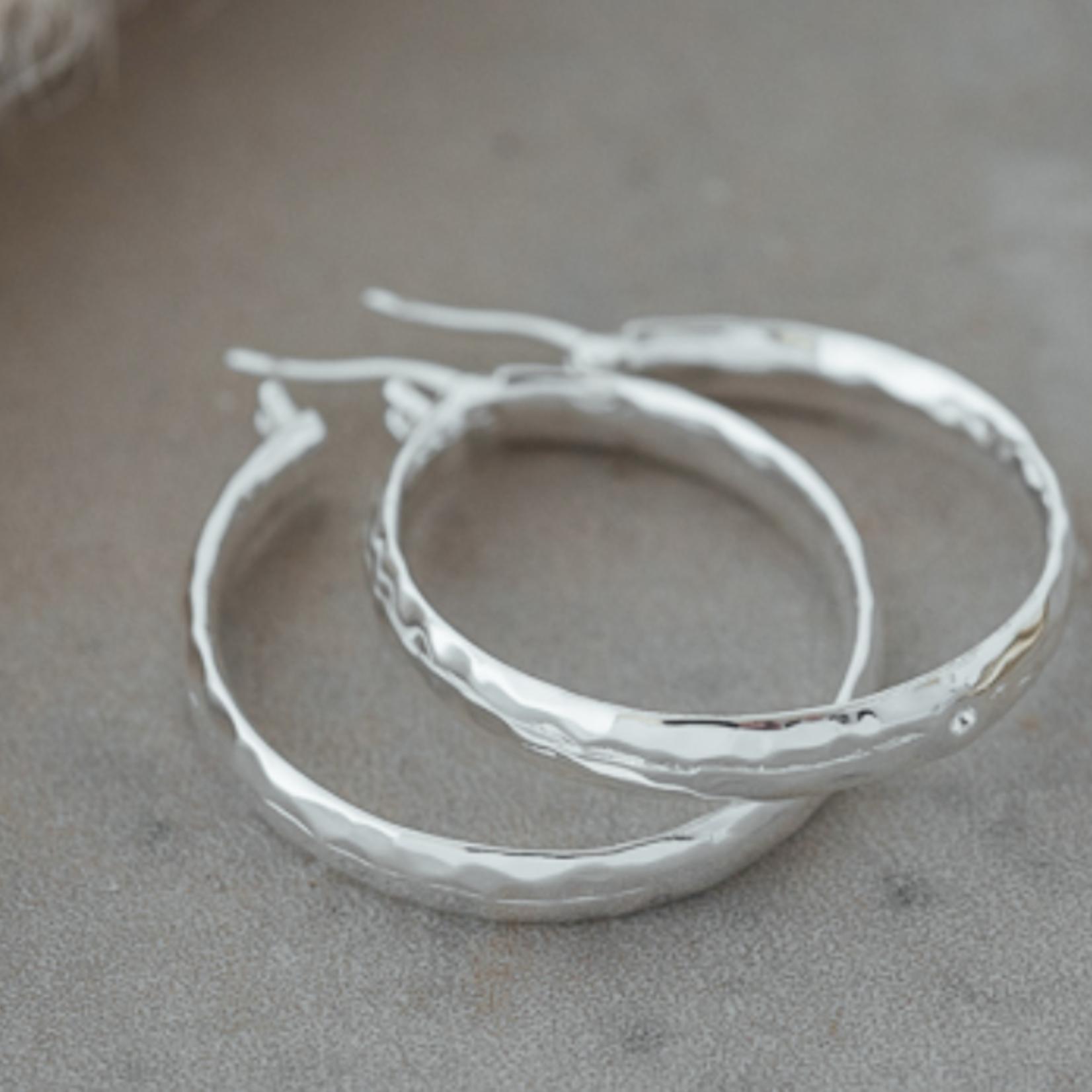 Stella Hoop Earring Silver