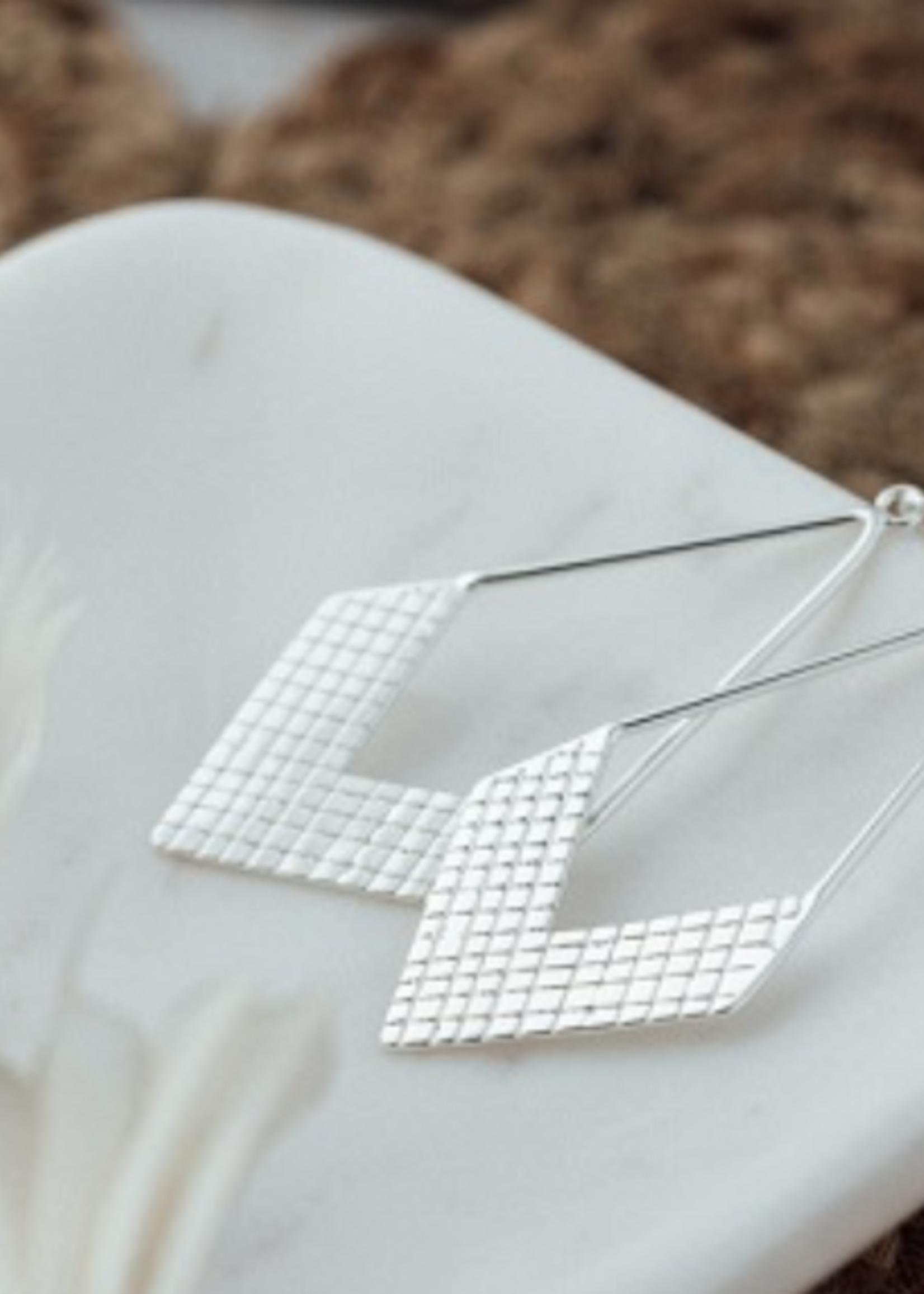 Warrior Earrings Silver